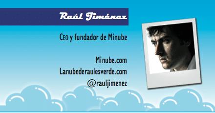 El perfil emprendedor de Raúl Jiménez, minube.com