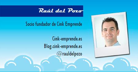 El perfil emprendedor de: Raúl del Pozo, cink-emprende.es