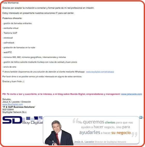 email linkedin