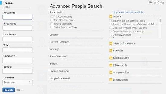 Encontrar clientes usando linkedin