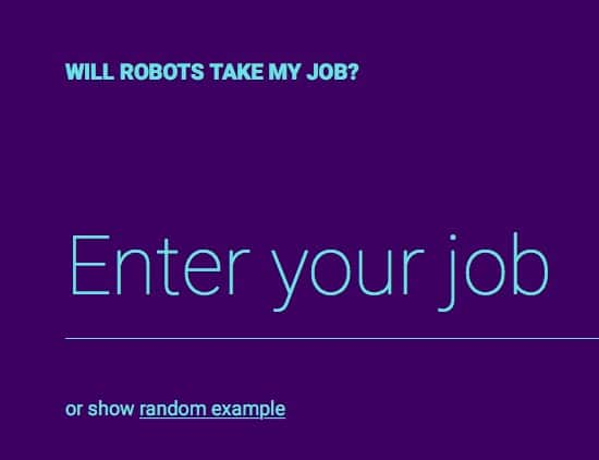 Will robots take my job?