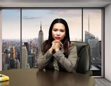 asian, business, woman
