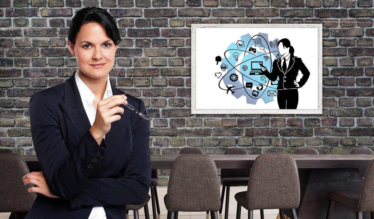 businesswoman, office, meeting