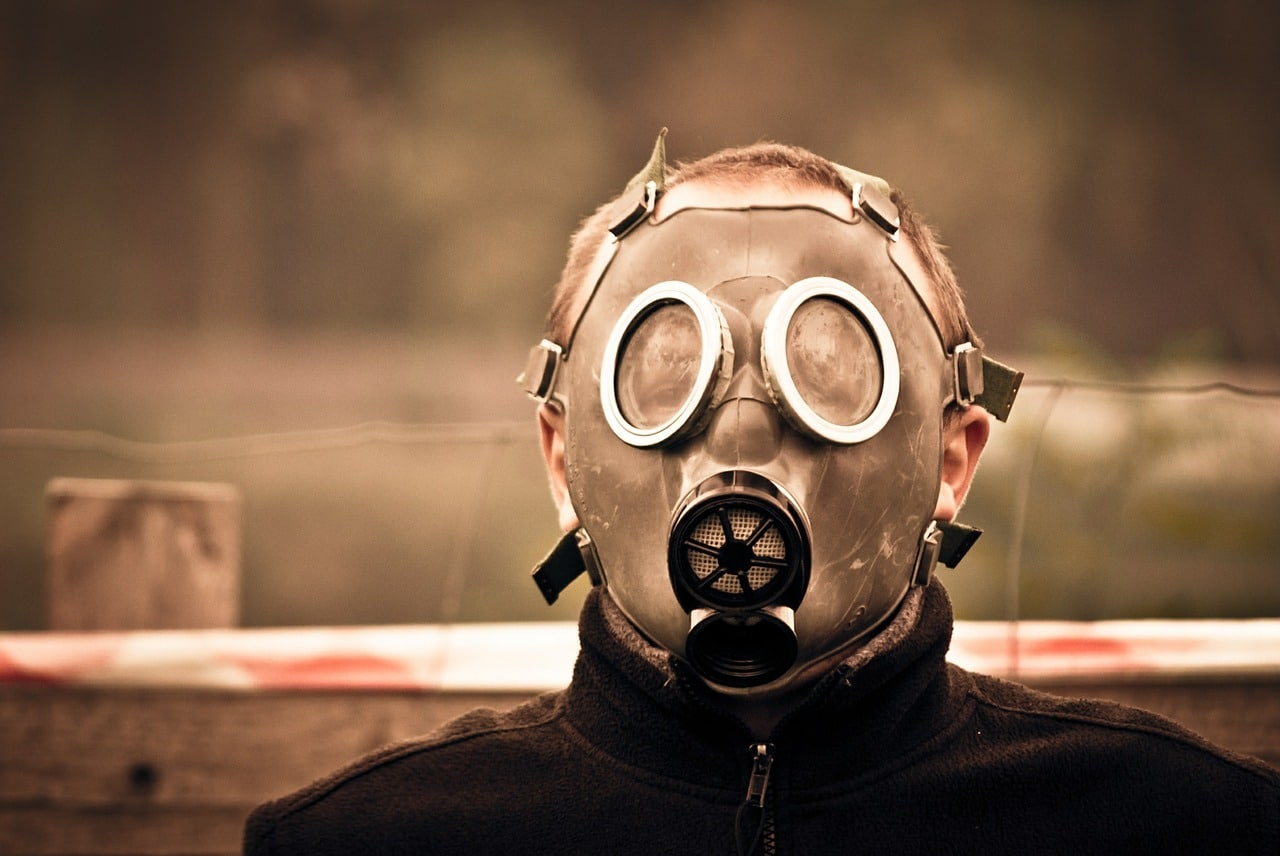 gas mask, poison, protection