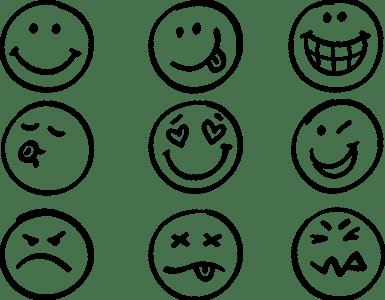 happy faces, emoticons, smiley