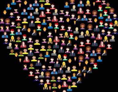 heart, avatars, people