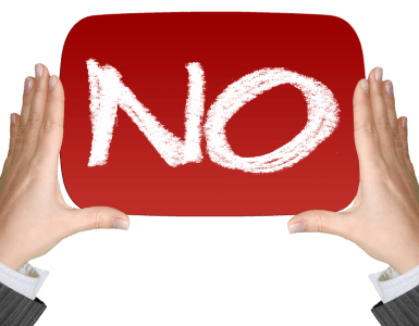 no, negative, finger