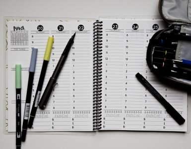planner, open, weekly