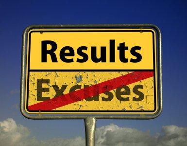 result, excuse me, failure