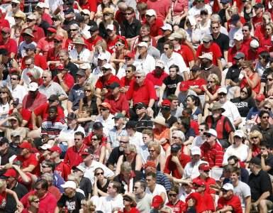 spectators, crowd, stadium