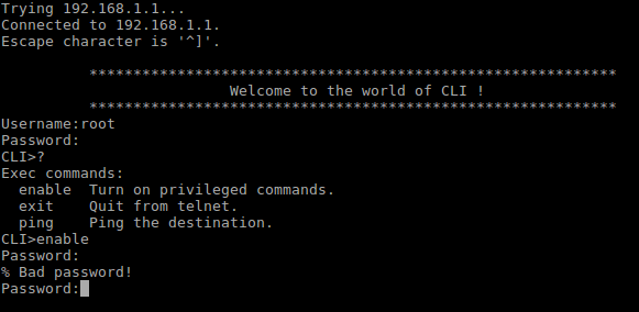 Access to the CLI.