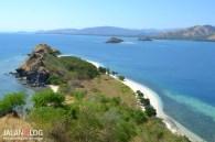 View dari atas bukit Pulau Tiga