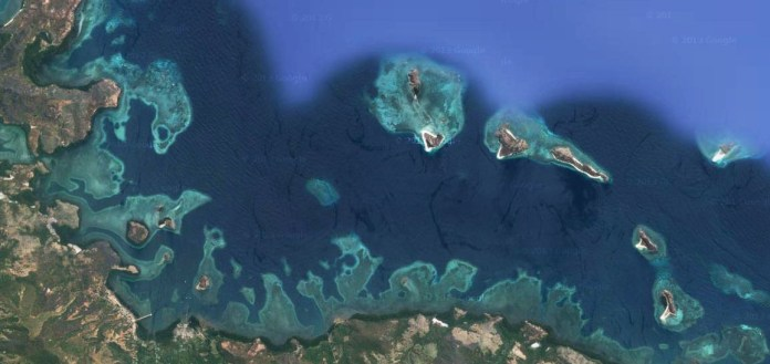 Riung 17 island from goggle map