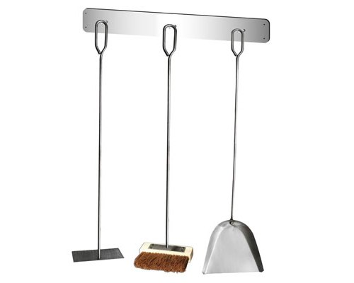 3 Piece Tool Set & Wall Mount – Small Stainless Steel
