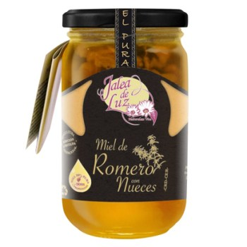 Miel de romero con nueces 500 gr