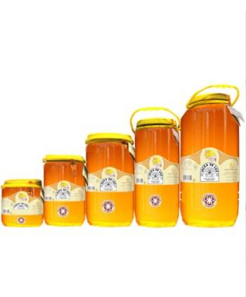Miel cruda de Alfalfa en garrafa