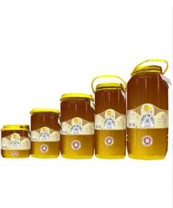 Miel cruda de diente de león en garrafa