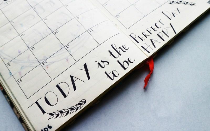 Heute ist der perfekte Tag um Glücklich zu sein
