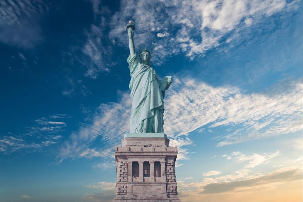 Freiheitsstatue in Amerika