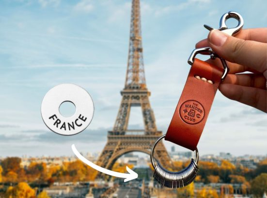 Unique Travel Gifts the Wander Club Leather Travel Keychain