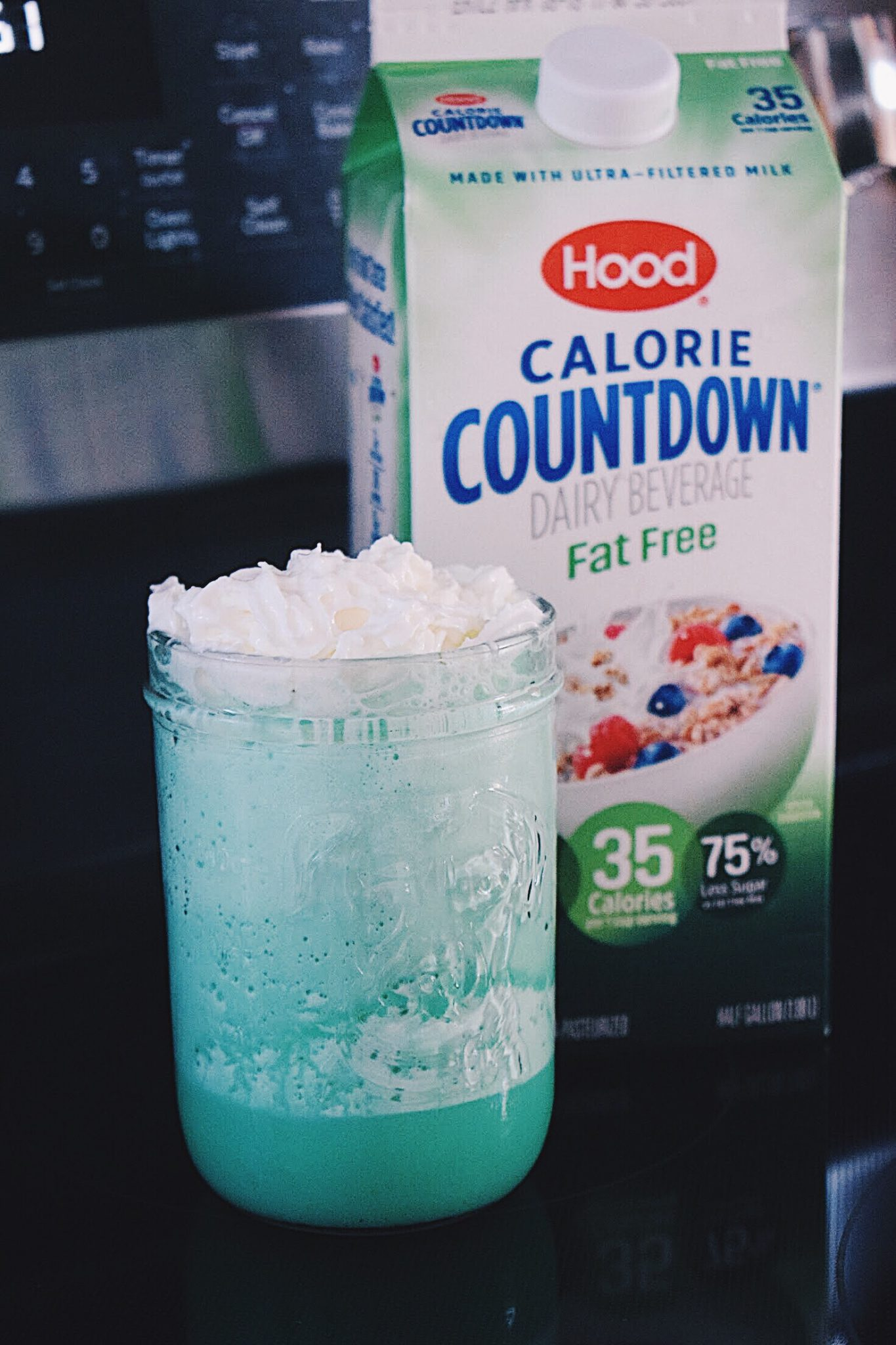 Mint Shamrock Shake With Hood Calorie Countdown