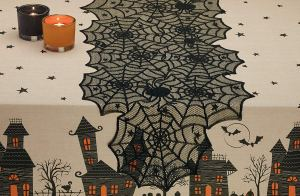 Halloween Favorites Lace Table Runner