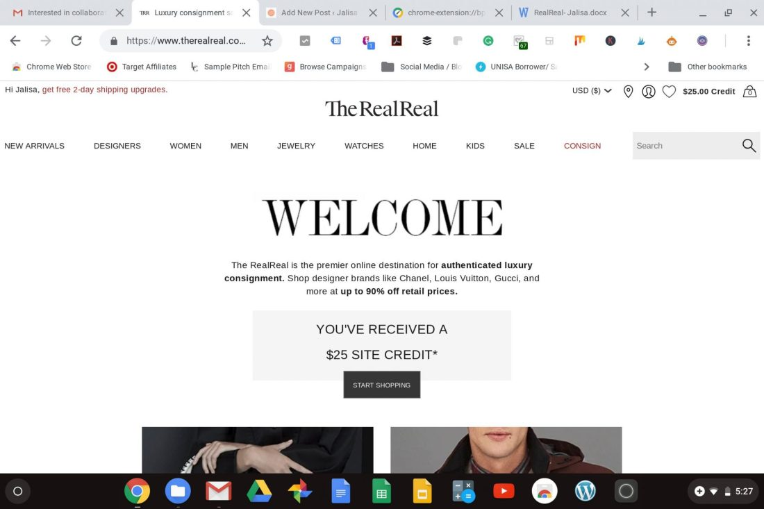 the RealReal Consignment