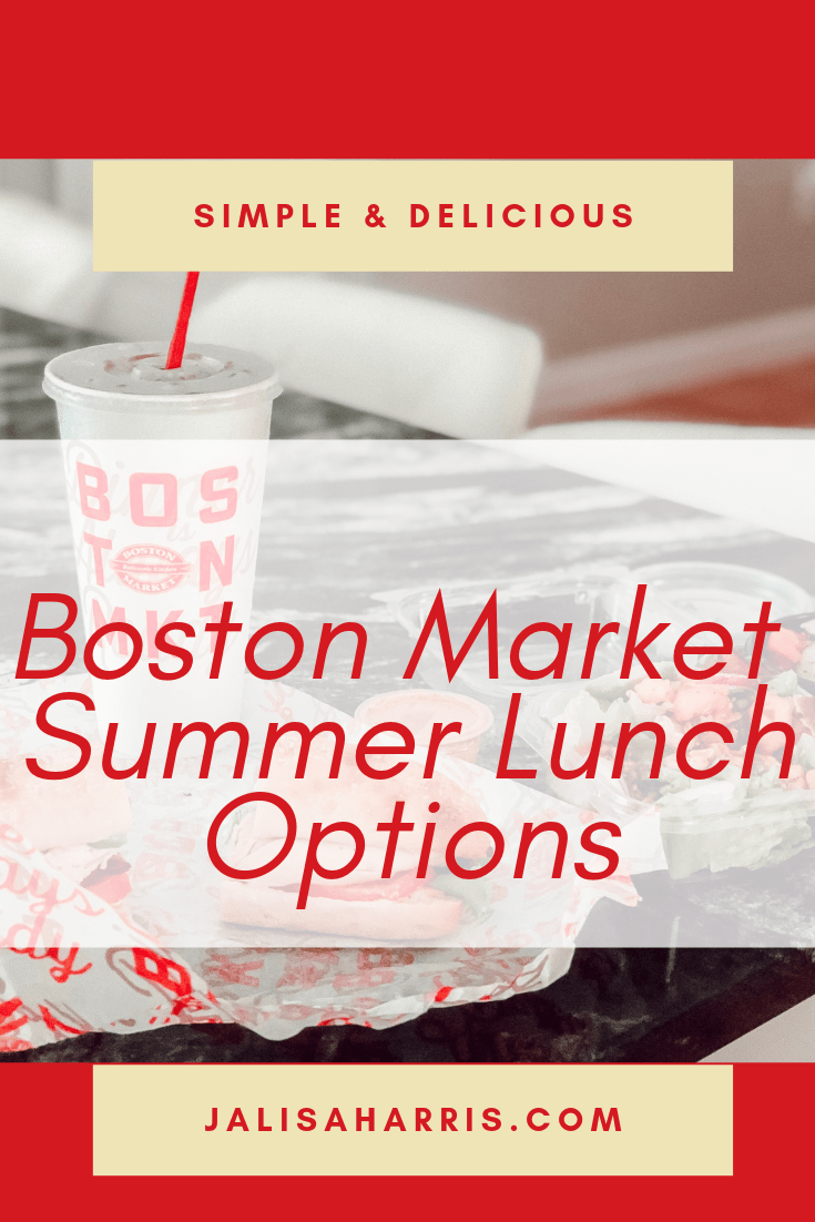 Boston Market Lunch Options Pin