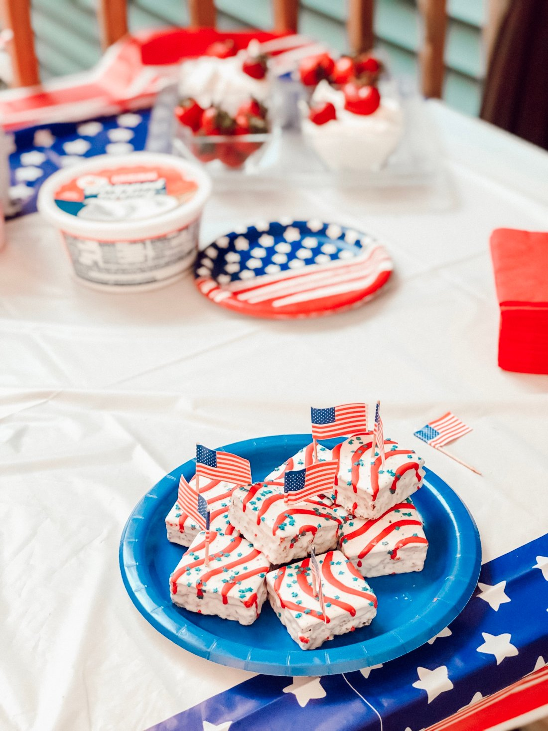 Patriotic snack treats