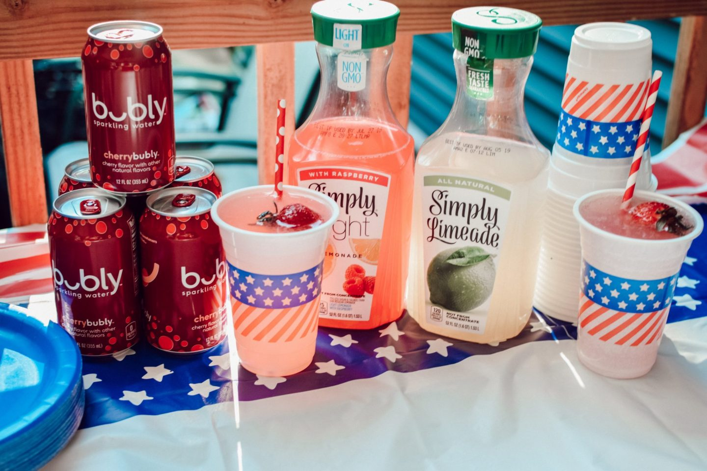 Simple Holiday Drink Bar