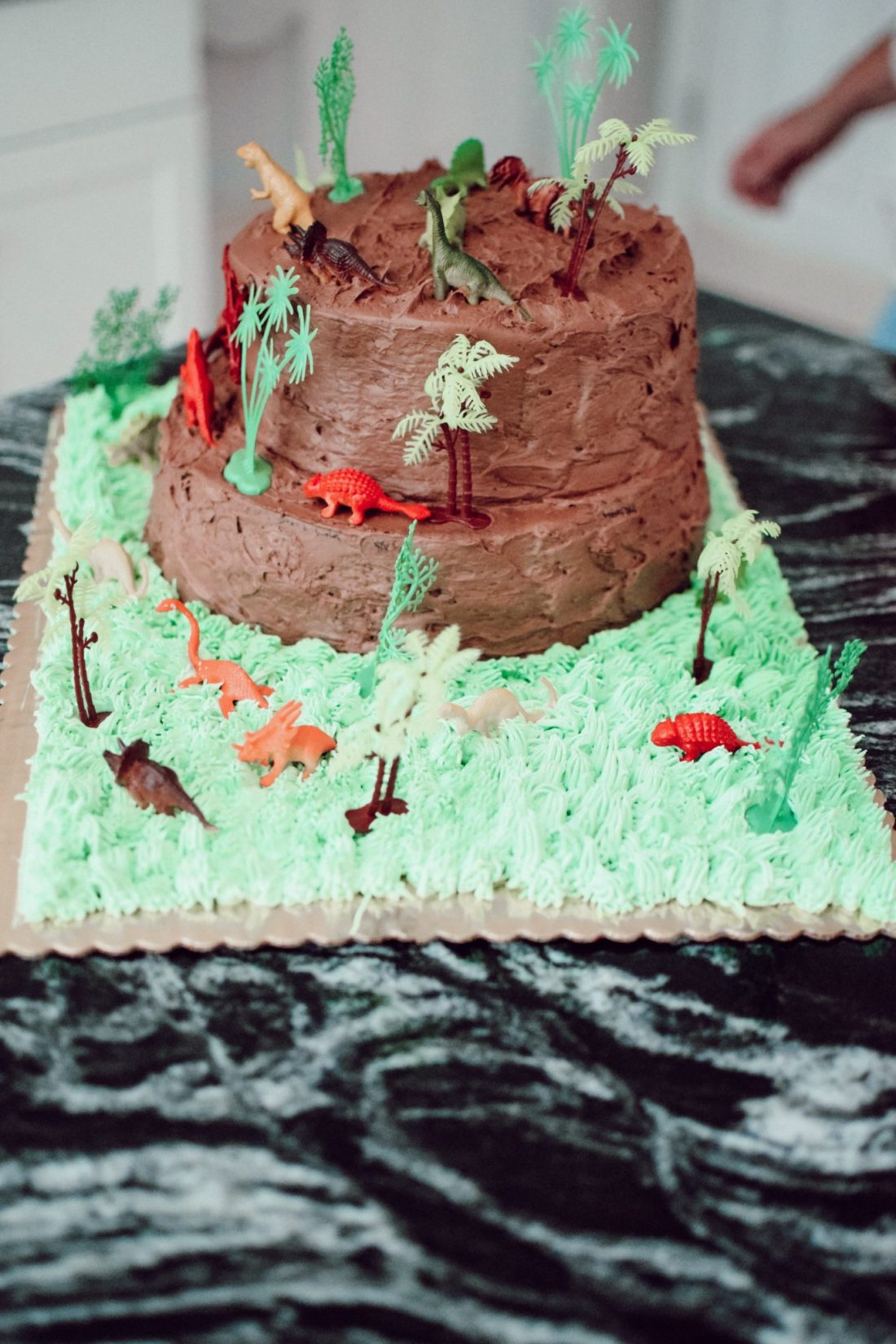 Chocolate Jurassic Themed Cake