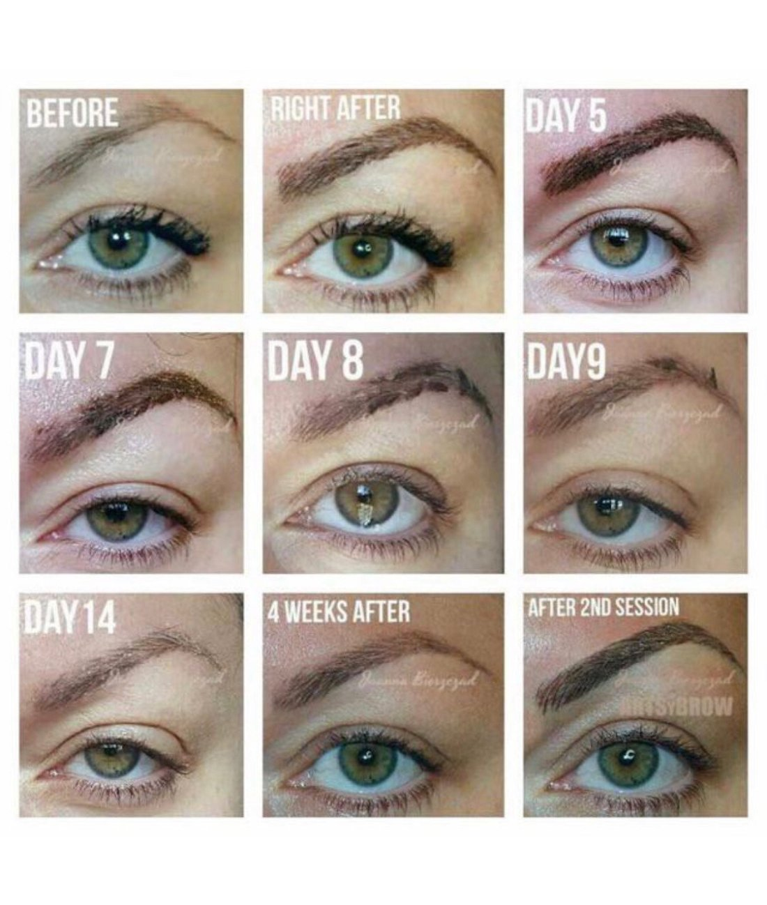 What to expect after a microblading session