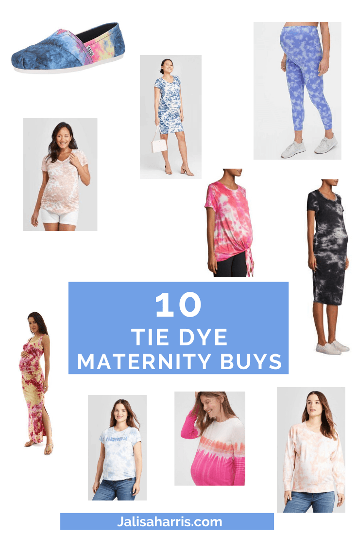 10 tie dye maternity must haves pin