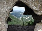 Вид из пещеры на мысу Тешкли-Бурун