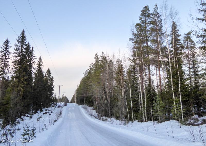 Luminen ja jäinen Koirasalmentie, Kivijärvi