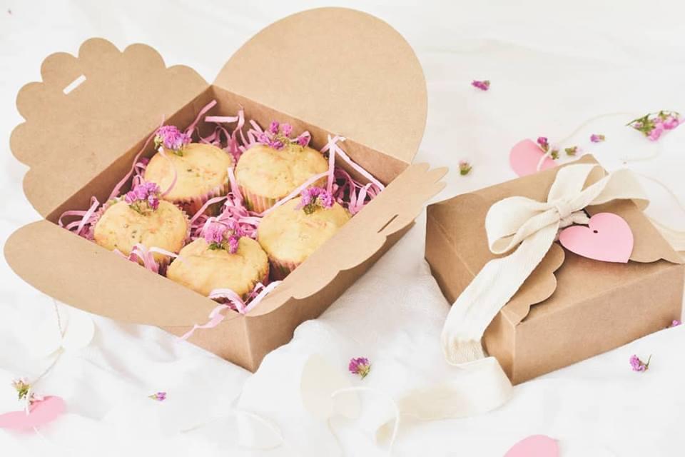 Caja tipo Flor para galletas