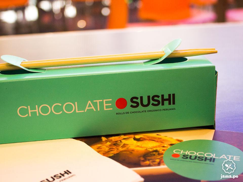 Chocolate sushi postre