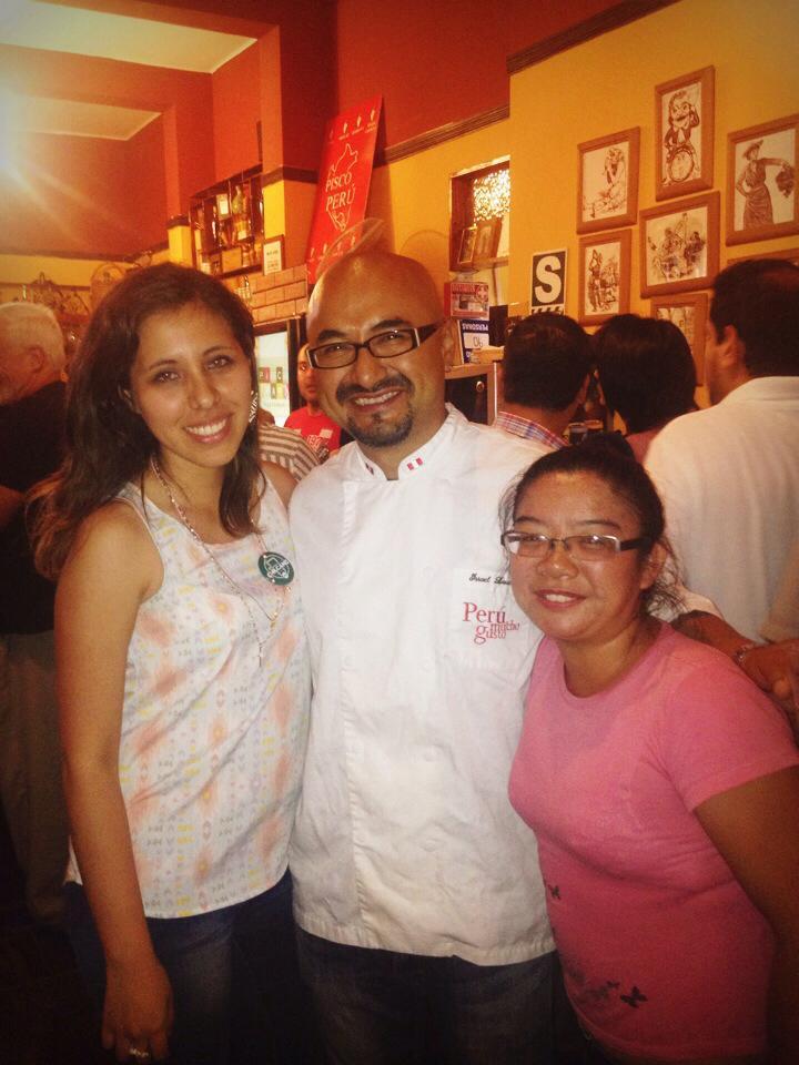 Con Israel Laura, cheff del restaurante 550