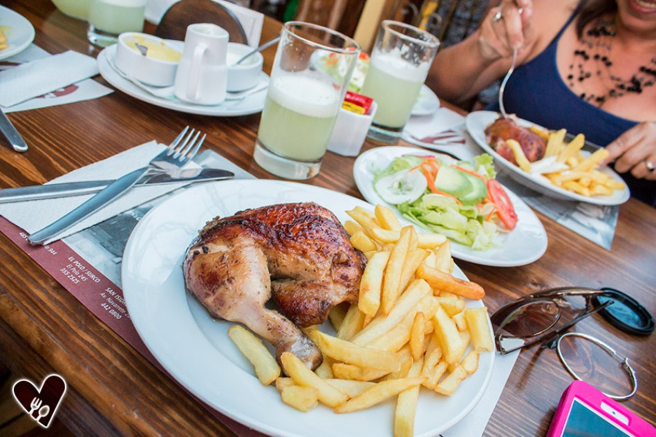 Pollo a la brasa en Villa Histórico