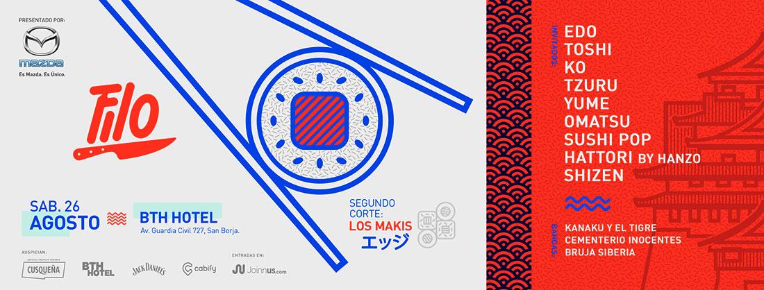Festival gastronómico FILO, presenta su segunda  edición: Los Makis