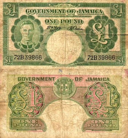 Jamaican £1 Bank Note