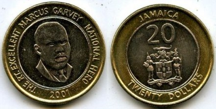 2001 Jamaican $20 coin
