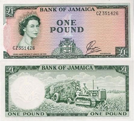 BOJ £1 Bank Note