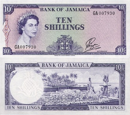 BOJ 10 Shillings Bank Note