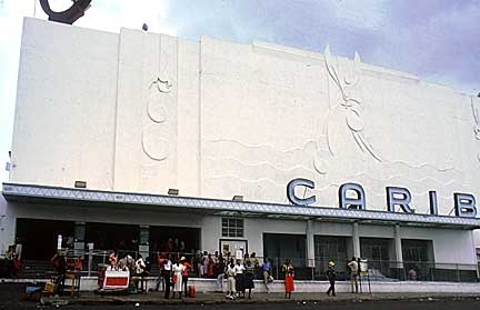 Carib Theatre before fire in September 1996.