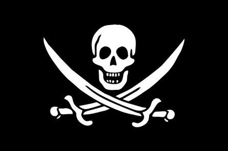 The Jolly Roger pirate flog depicted with a skull and crossed swords as Calico Jack had designed (Source: Wikipedia.com)