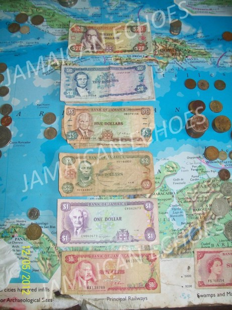 Flo's post-Independence Jamaican coins and banknotes.