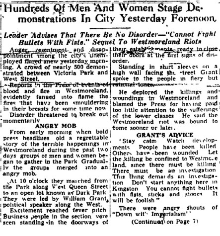 The Daily Gleaner, Wednesday, May 4, 1938, pg. 1