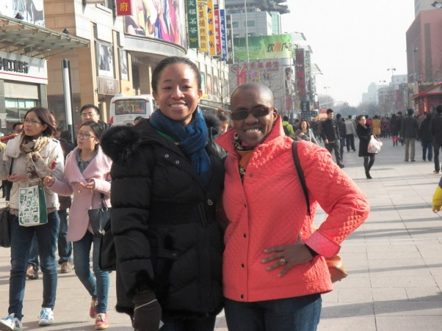Dawn and I finally linked up on Saturday, March 23, 2013, to tour the Wangfujing area in Beijing, like the tourists we are!