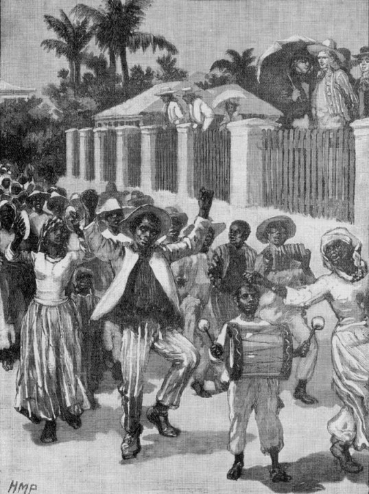 Emancipation Festival, Barbados, 19th cent. Image Reference NW0232, as shown on http://www.slaveryimages.org, compiled by Jerome Handler and Michael Tuite, and sponsored by the Virginia Foundation for the Humanities and the University of Virginia Library.
